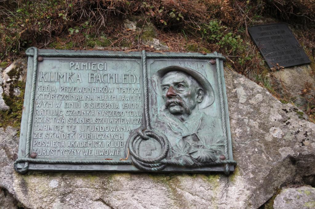 Pamětní deska Klimka Bachledy