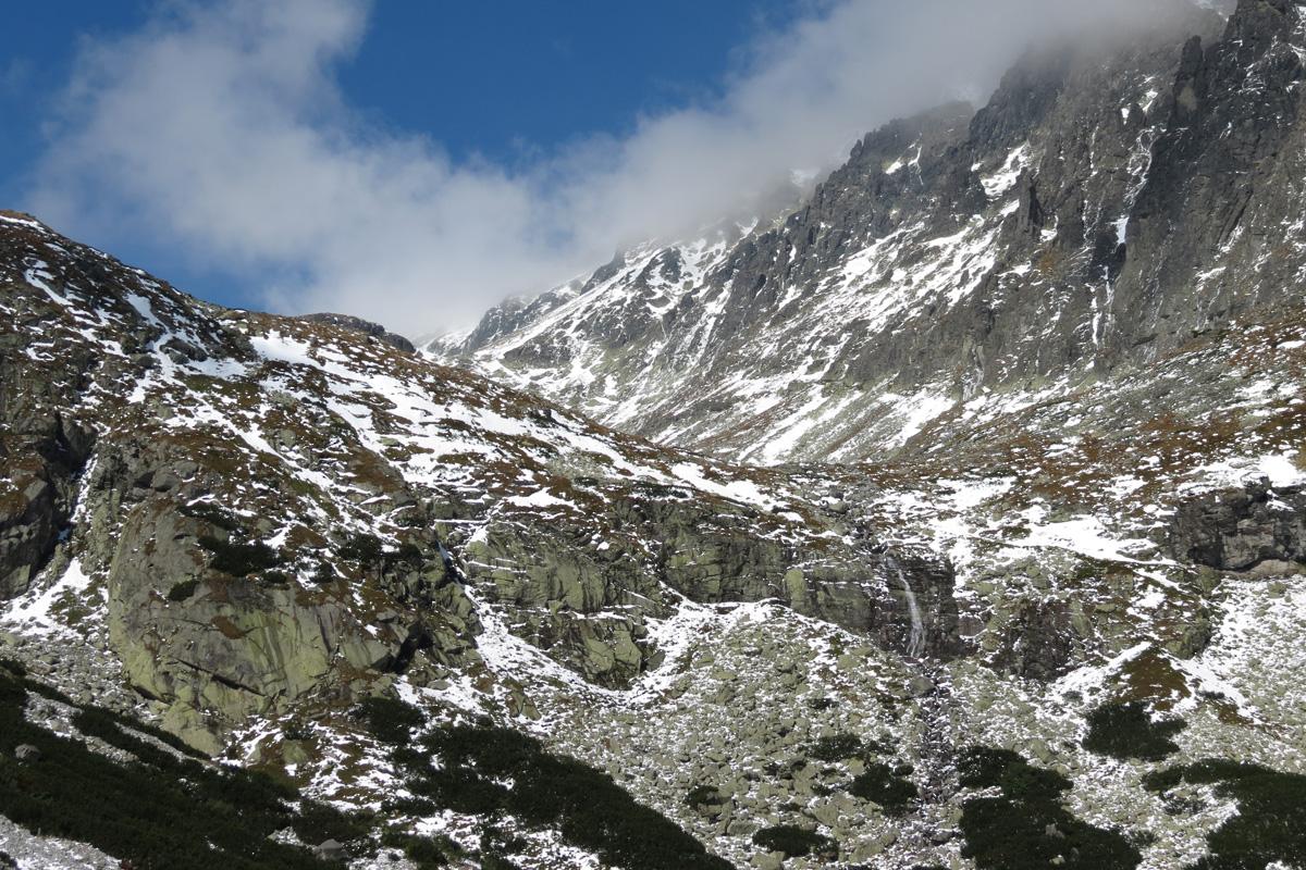 Velická dolina - první sníh