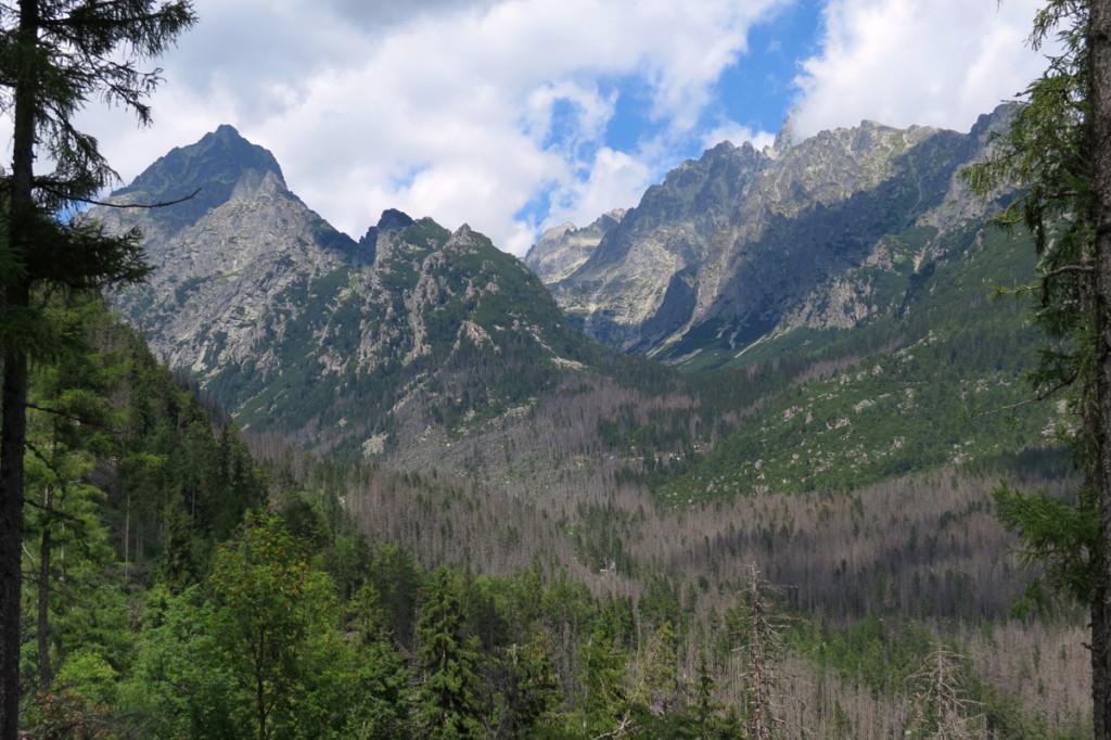 Ústí Studených dolin a Prostredný hrot