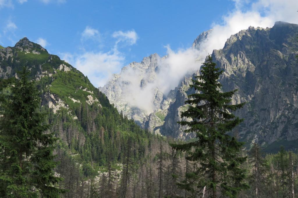 Tento krásný pohled do Ústí Malé Studené doliny se nám naskytne cestou na Rainerovu chatu.