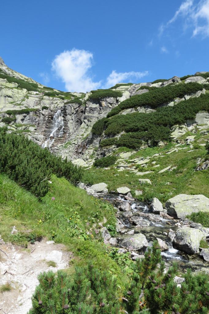 Pohled na Vodopád Skok